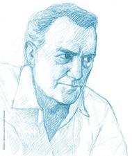 Luciano Vincenzoni. © Disegno di Giovanni Panarello