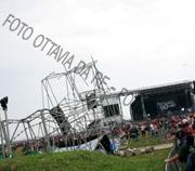Un'immagine del parco dopo la devastazione - Foto © Ottavia Da Re